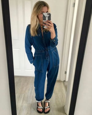 Sarah Hunter in her cropped jumpsuit