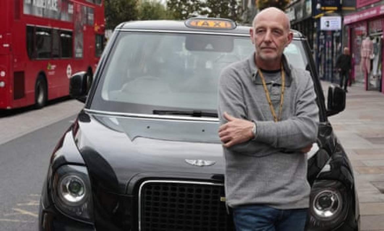 Steve McNamara, taxi driver, photographed last week in London.