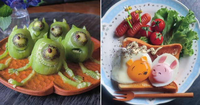 Mum makes the coolest creations out of food