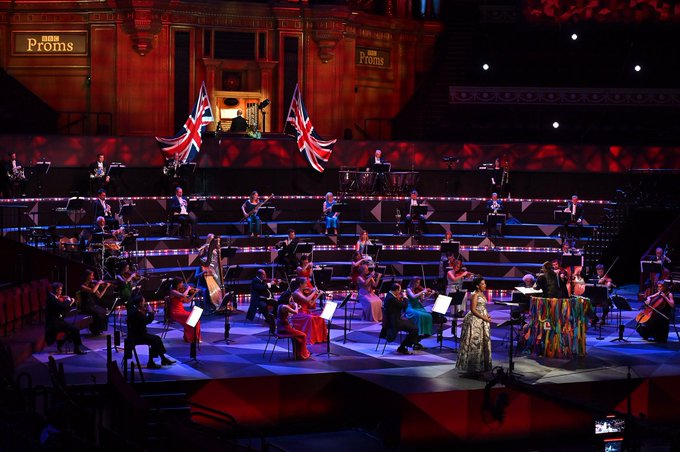 Last Night was performed to an empty Royal Albert Hall (Photo: BBC)