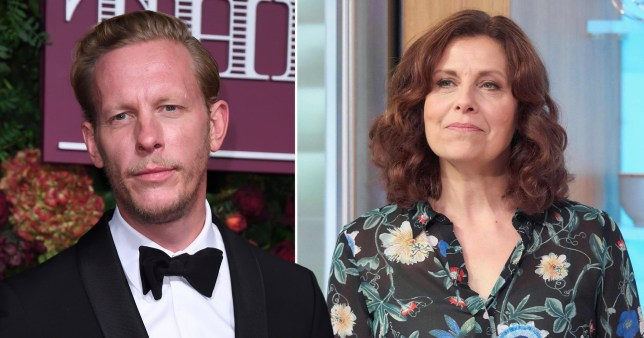 Laurence Fox and Rebecca Front
