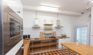 The kitchen at the Cohort Hostel in St Ives. Hostel's have had to close their communal areas since reopening after lockdown
