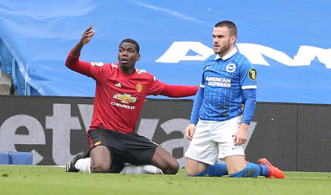 Pogba's challenge on Connolly was initially deemed a penalty