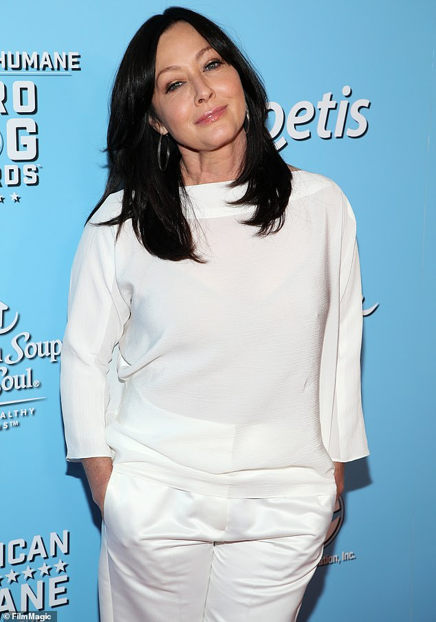 Not yet:Shannen Doherty wants to record video messages for her loved ones to watch after she has passed away. The Charmed star is currently battling stage four breast cancer, and has admitted that while she wants to prepare for her passing but she hasn't been able to because the process feels too 'final.' Seen in October 2019