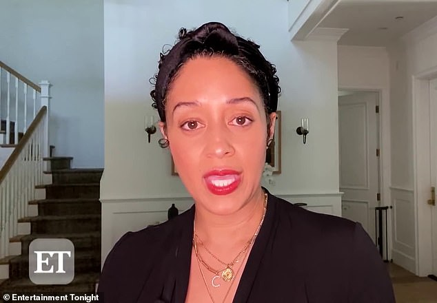 Still affected: Tia Mowry-Hardrict tearfully recalls being denied a magazine cover due to her race at the height of her and identical twin Tia's stardom