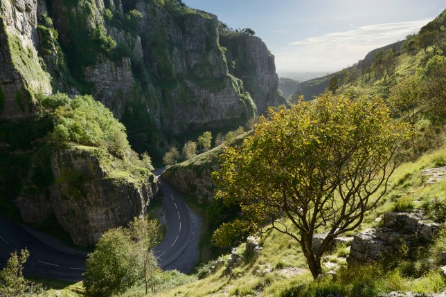 Cheddar Gorge Round Between Mountains