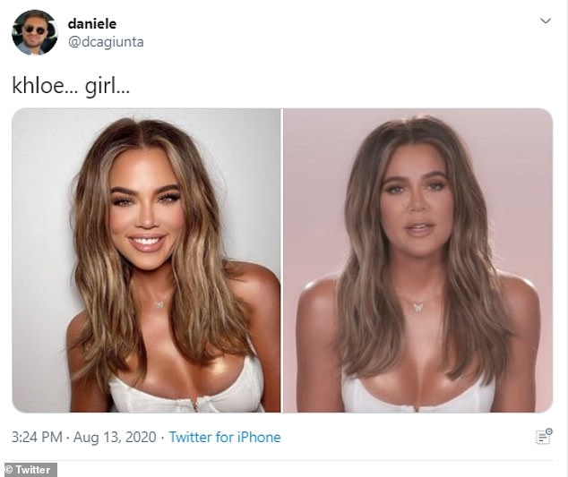 Busted: The 36-year-old mother-of-one did it in May where she used so many filters and Photoshop tricks that she was mistaken for Chrishell Stause or Kaitlyn Bristowe, causing fans to cry 'filter!'