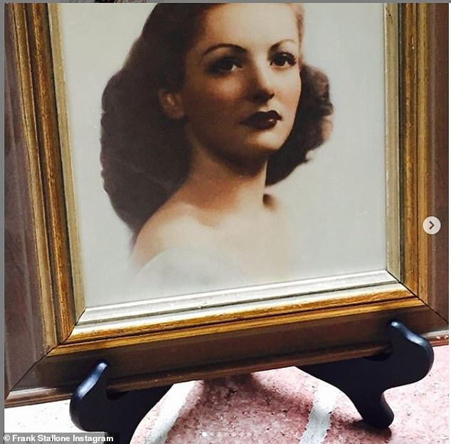 Tribute:'I would talk to her for hours about the 20's 30's and 40's. It was a history lesson. Her mind was as sharp as a razor till the day she died,' Frank wrote