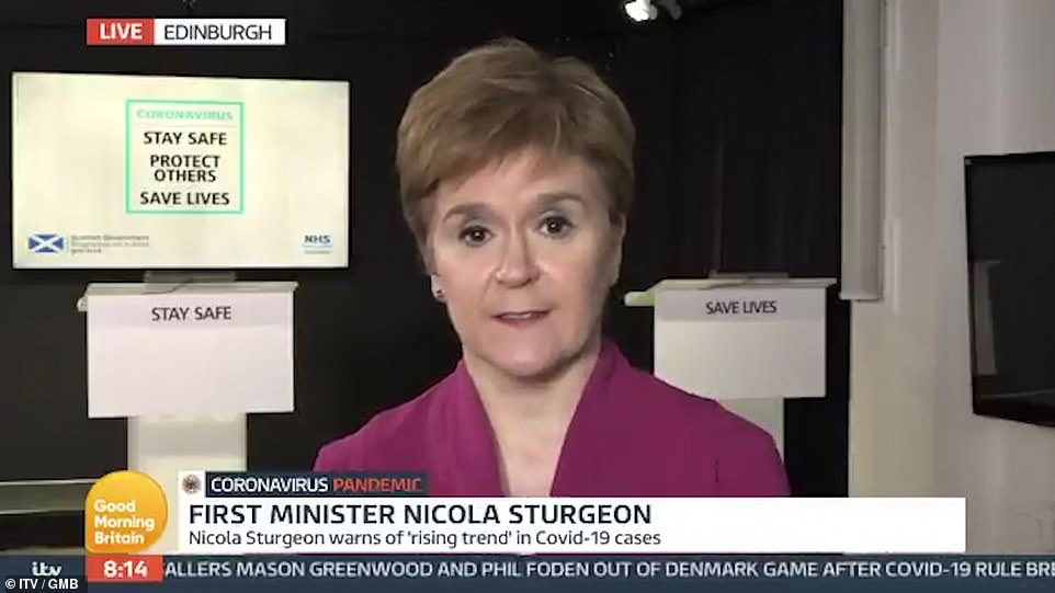 Scottish First Minister Nicola Sturgeon warned today that gatherings in people's homes were the biggest source of coronavirus spreading in the west of Scotland, rather than the hospitality sector