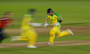 Good running from David Warner (left) and Aaron Finch.