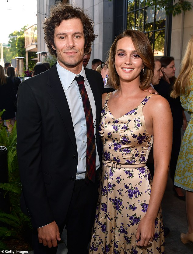 Dolled up: Adam and Leighton appear at the premiere of his film Ready or Not in August 2019. The pair have appeared on screen together in a handful of TV and film roles since coupling up