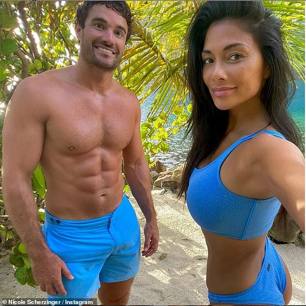 Loved up:The X Factor judge is currently dating former rugby star Thom Evans with the couple reportedlykeen to start a family of their own