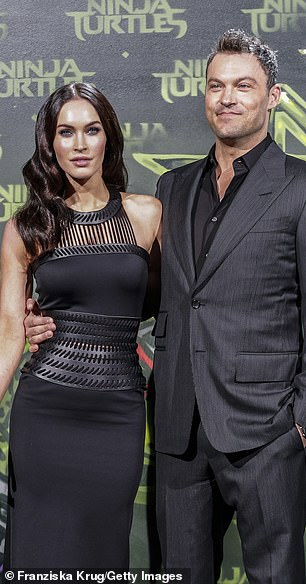 Megan Fox pictured with Brian Austin Green in 2014
