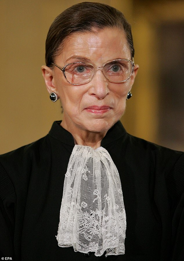 Her say: Shortly before her death Ginsburg said: 'My most fervent wish is that I will not be replaced until a new president is installed'