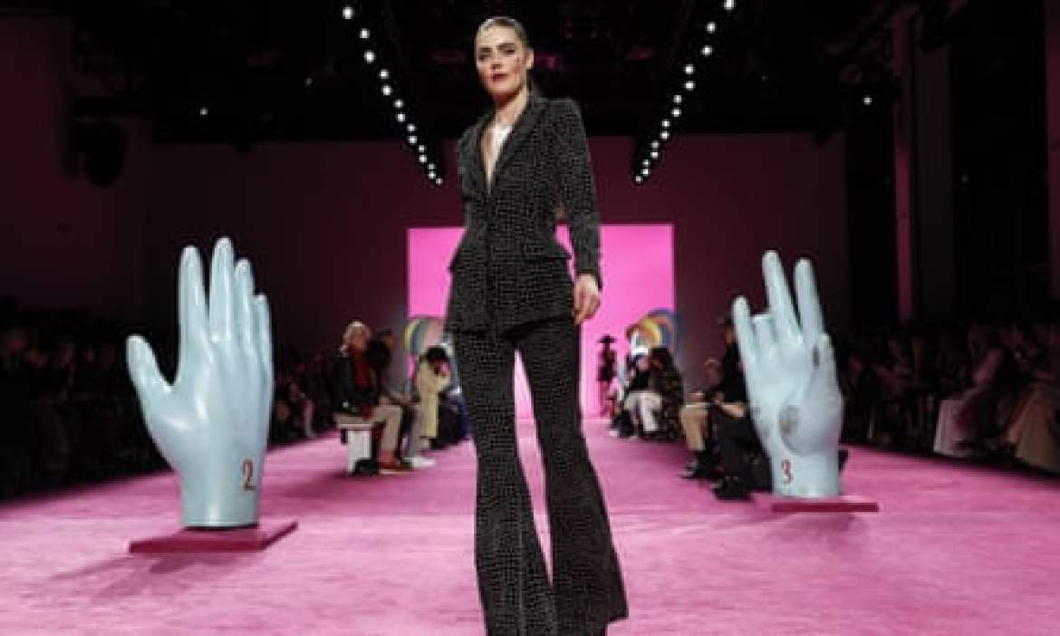 A show for the Christian Siriano collection at New York fashion week in February.
