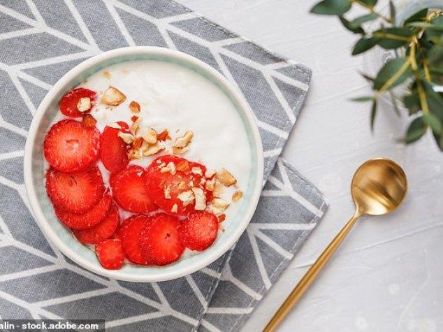 Passion Fruit and Hazelnut Yoghurt