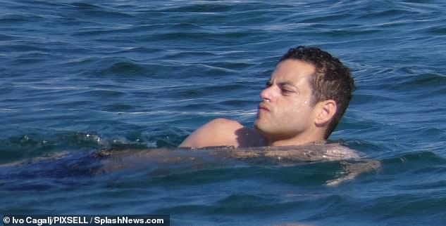 Love at first sight:Rami and Lucy have been dating since 2018 after meeting on the set of Bohemian Rhapsody, where he played Queen frontman Freddie Mercury and she his one-time fiancée and companion Mary Austin