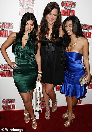 Actually, all the ladies have changed: Here she is with sisters Kim and Kourtney in 2008, here, and this summer for their fragrance ad