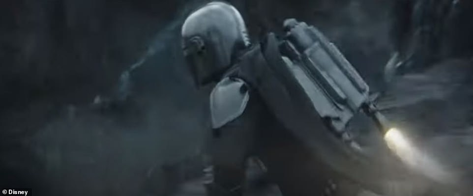 Loyal to The Child:'You know this is no place for a child,' says a man in voiceover. 'You know where he goes I go,' says Mandalorian. 'So I heard,' adds the man