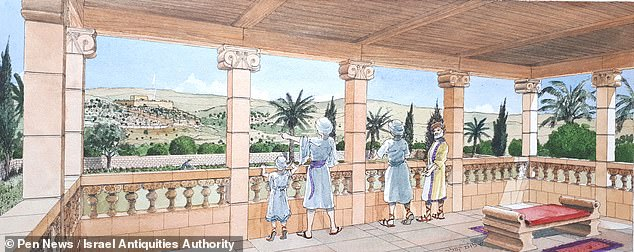 Archaeologists have unearthed the magnificent stone remains of a 2,500-year-old royal palace (illustrated) outside the walls of Jerusalem that was ¿ curiously ¿ carefully buried