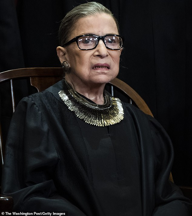 Process: Supreme Court Justices are nominated by the president and then confirmed by the Senate; Ginsburg was nominated by Bill Clinton and confirmed by a Democratic Senate