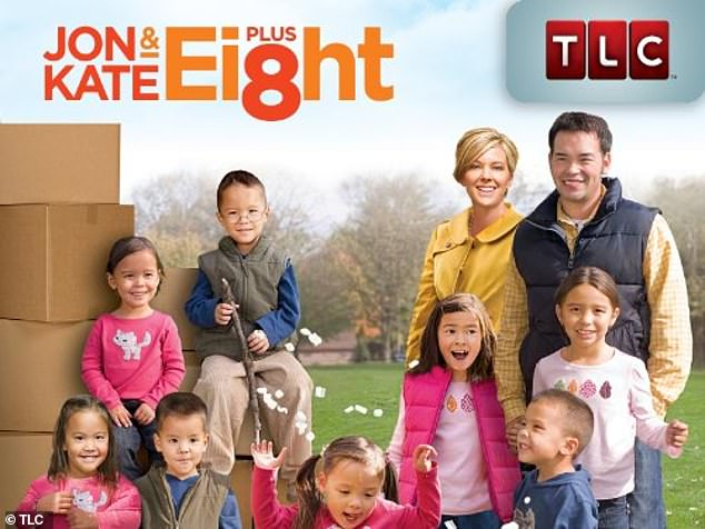 In happier times: Jon and Kate divorced in 2009 after 10 years of marriage, and found huge fame thanks to their reality series Jon & Kate Plus 8