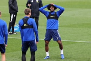 Hamza Choudhury, pictured at Leicester training.