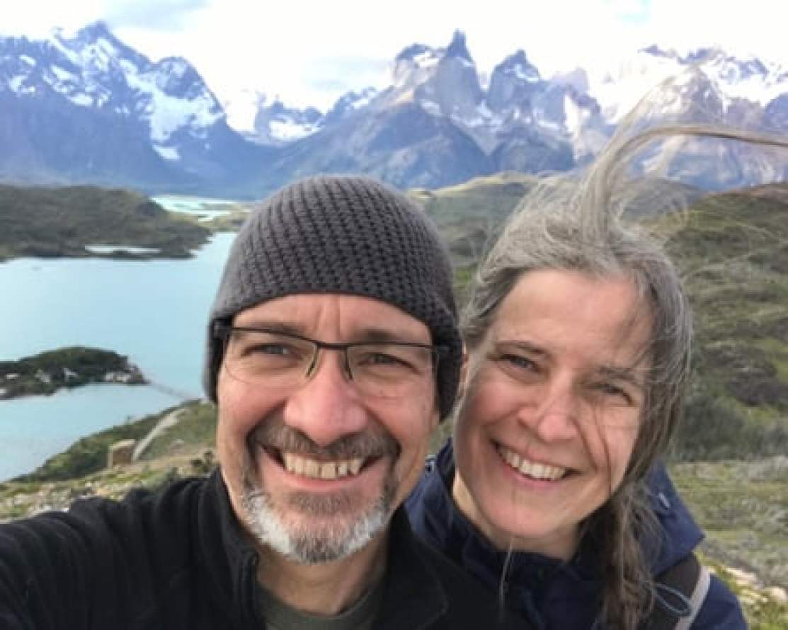 John and Laura on a trip to Chile in January 2020