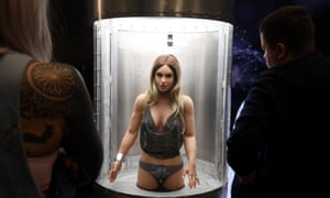 A RealDoll at the 2020 AVN Adult Entertainment Expo in Las Vegas, Nevada, in January 2020.
