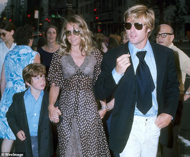 Jamie with his mother Lola Van Wagenen and father Robert in New York City in 1969