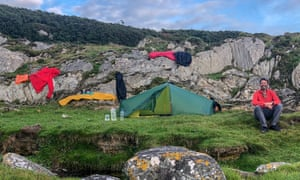 Drying out camp, Point of Knap, Kintyre.