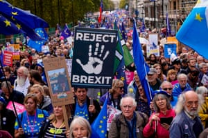 Protesters calling for a second referendum on Brexit