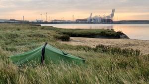Quintin's last camp by London Gateway port