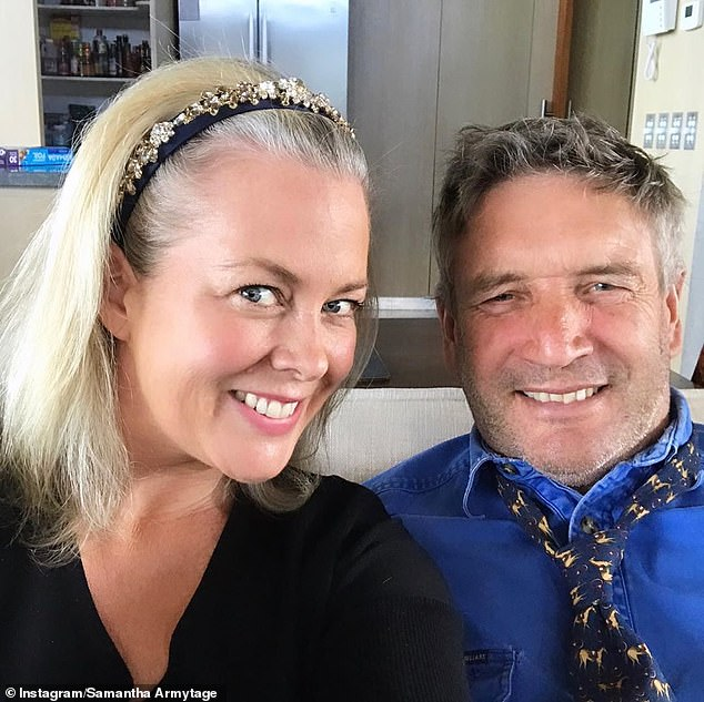 'Sounds like I might not be the only one marrying a farmer!' Chatting to Farmer Wants a Wife host Natalie Gruzlewski about the 2021 season of the popular dating show, Sam unexpectedly opened up about her own relationship. Pictured with Richard (right)