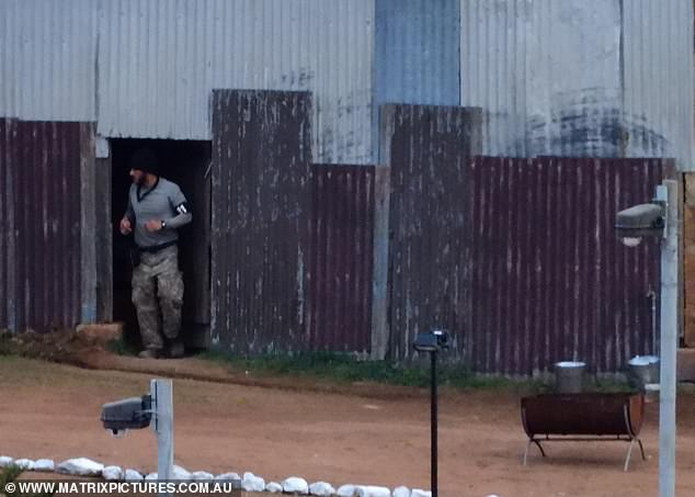 Freezing: Corrugated iron structures would have provided little warmth for the show's contestants, with Nick 'Honey Badger' Cummins seen shivering shortly after arriving on site