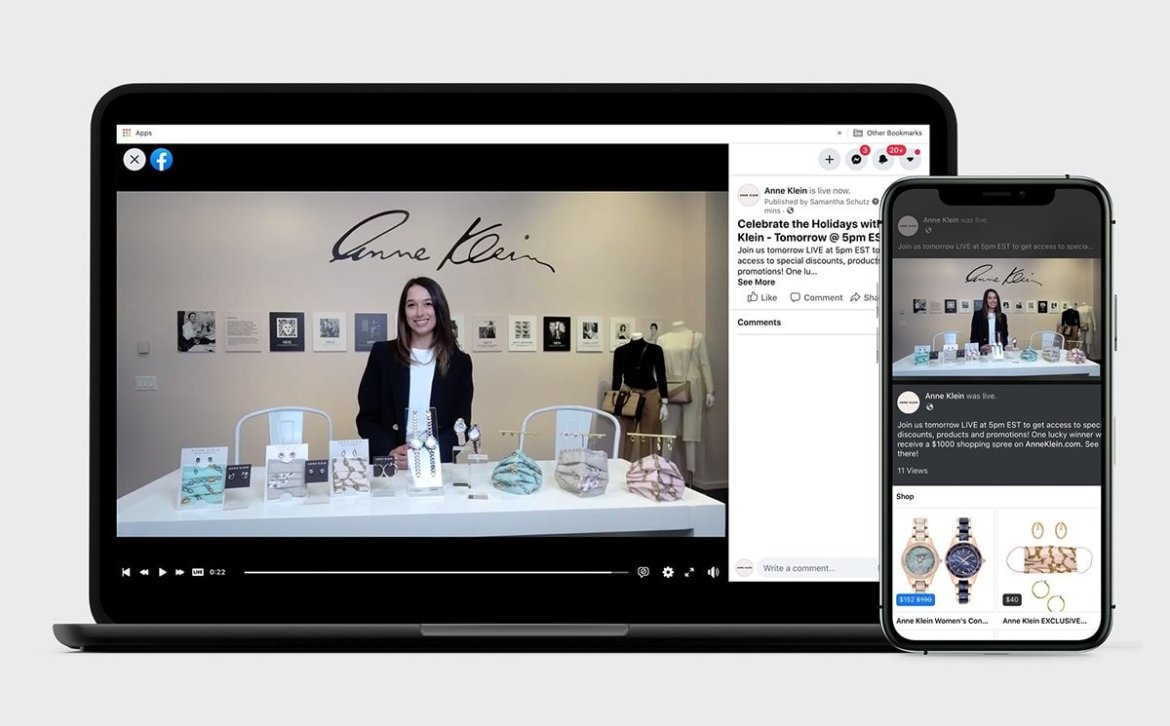 Anne Klein to retail through Facebook Shop's live in-app shopping