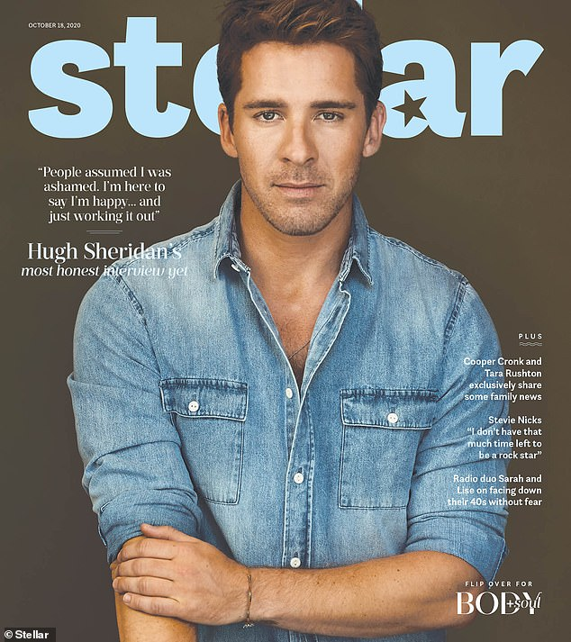 Speaking up: Hugh (pictured) told Stellar Magazine in October while he did not place a label on his sexuality, he had come to accept his attraction to both men and women
