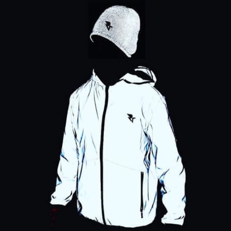 Women's reflective jacket, Run Through, £38