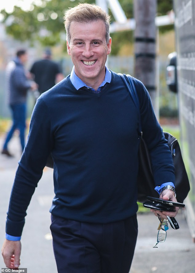 His time to shine: On Friday Anton Du Beke was confirmed as filling in for Motsi while she's gone (pictured last month)