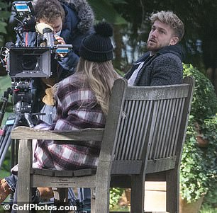 Rumours: Her and Sam met in a west London park to film the final episode of MIC's current series