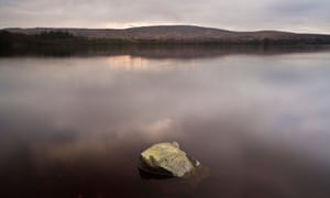 The banks of Lough Fea in the Crockandun hills near Draperstown, County Derry.