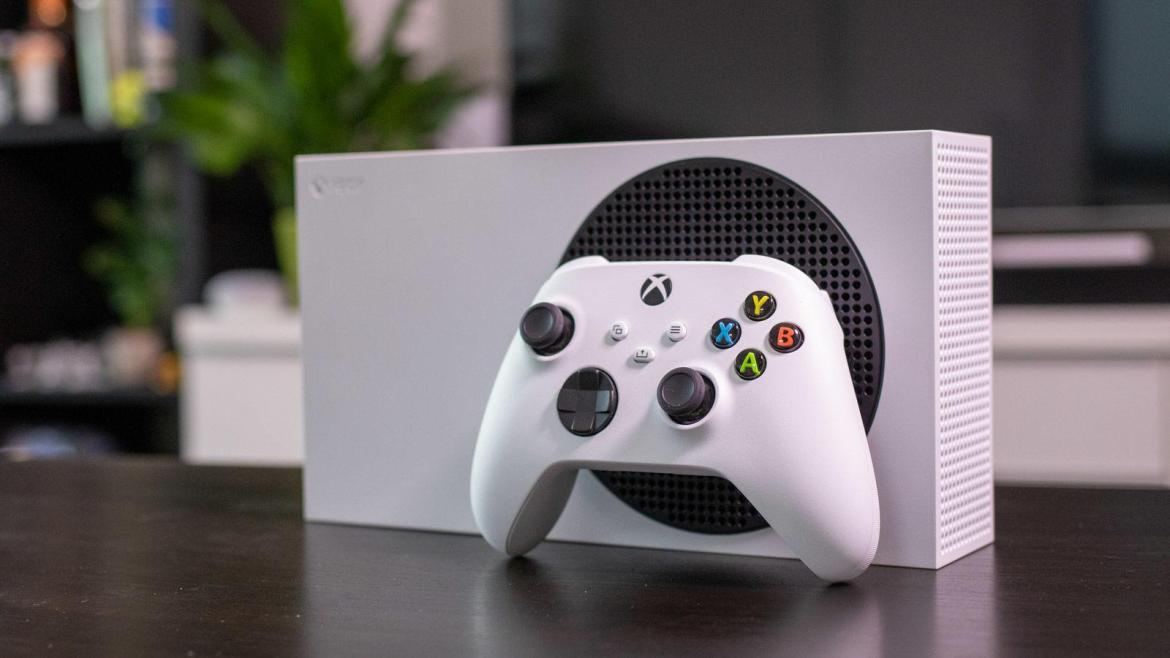 Xbox Series S with controller