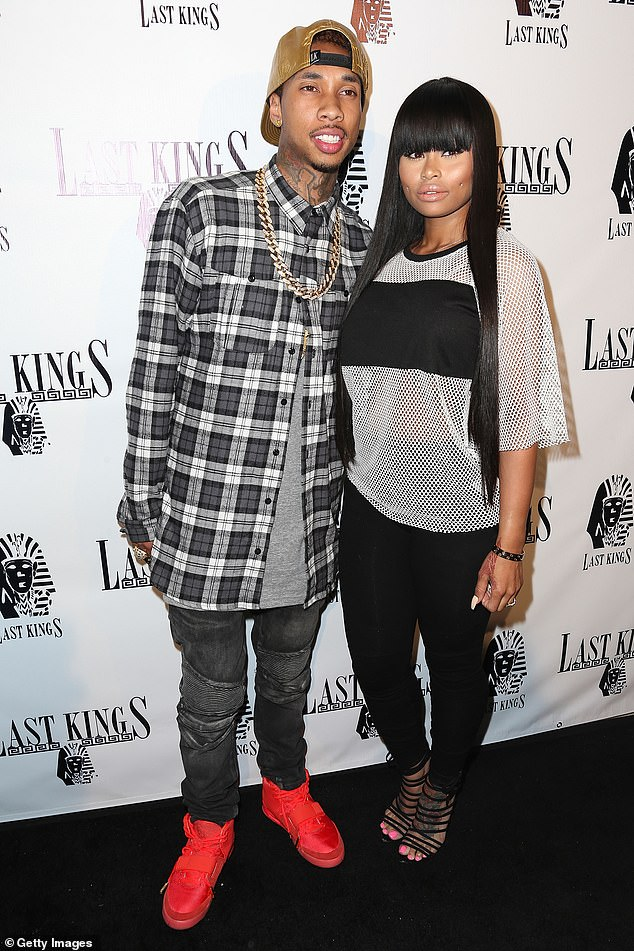 She was named too: In the lawsuit, the BedRock rapper's son King Cairo, now eight, was also named as a defendant because the youngster - whose mother is Blac Chyna - had his name recorded on lease. Tyga and Chyna in 2014