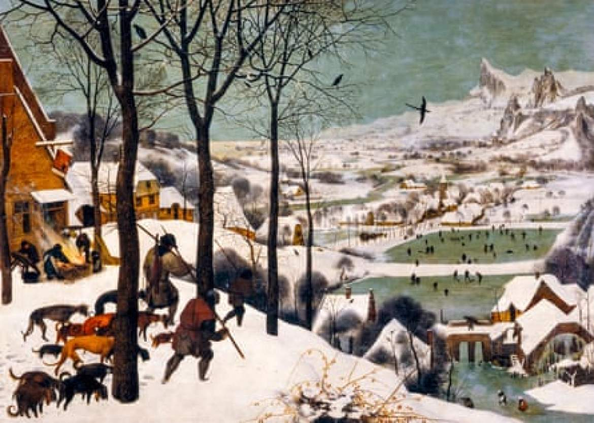 The Hunters in the Snow by Pieter Bruegel the Elder. NO CROPPING