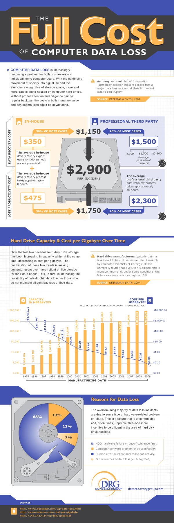 Computer Data Loss Infographic