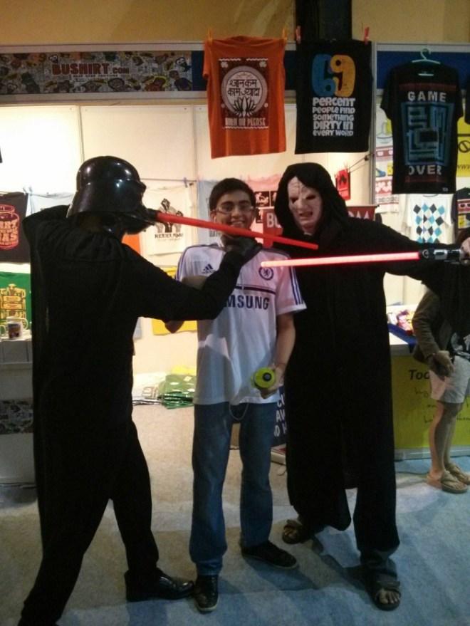 Two Jedi Dudes, a Chelsea Fan and a Comic Con