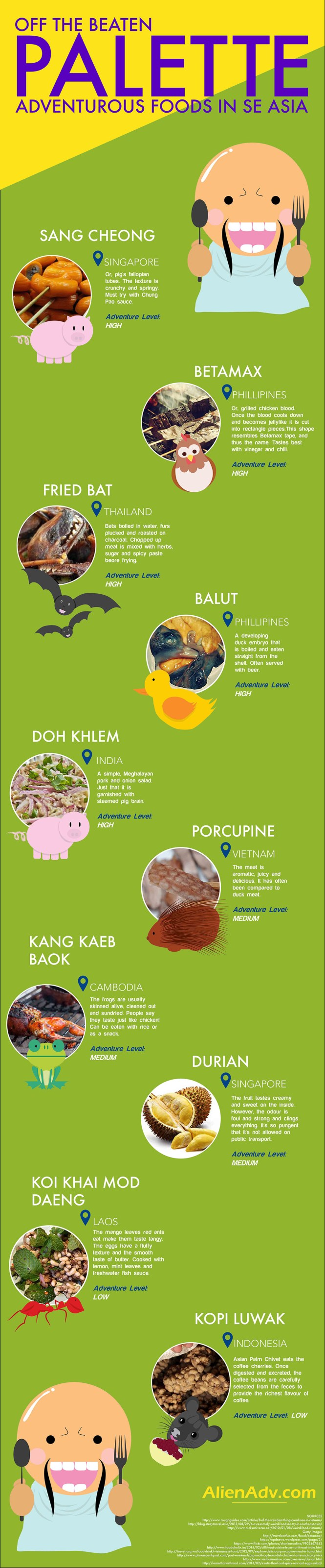 Unusual & Unheard of Food to Try in South East Asia