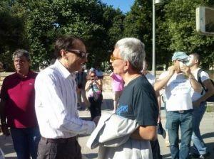 Mazzei incontra Vendola al Puglia Pride per parlare di Salento