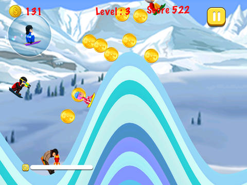 Blue Lightnings Sled Race - Downhill racing game in the snowy mountain games for iphone