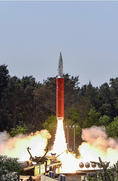 """Anti-Satellite (A-SAT) missile being launched by Defence Research and Development Organisation (DRDO) from the APJ Abdul Kalam Island off India's eastern coastal state Odisha on March 27, 2019. Code-named """"Mission Shakti"""" the A-SAT engaged a defunct Indian satellite in Low Earth Orbit (LEO) in a """"Hit to Kill"""" mode and destroyed it completely. India joins the select club with USA, Russia and China with this capability. (Photo: PTI)"""